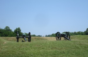 Two Cannons on battlefield